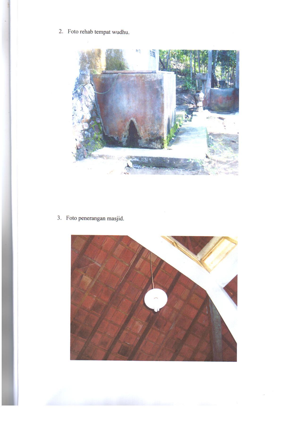 Foto Tempat Wudlu dan Penerangan Masjid Lukman Khakim